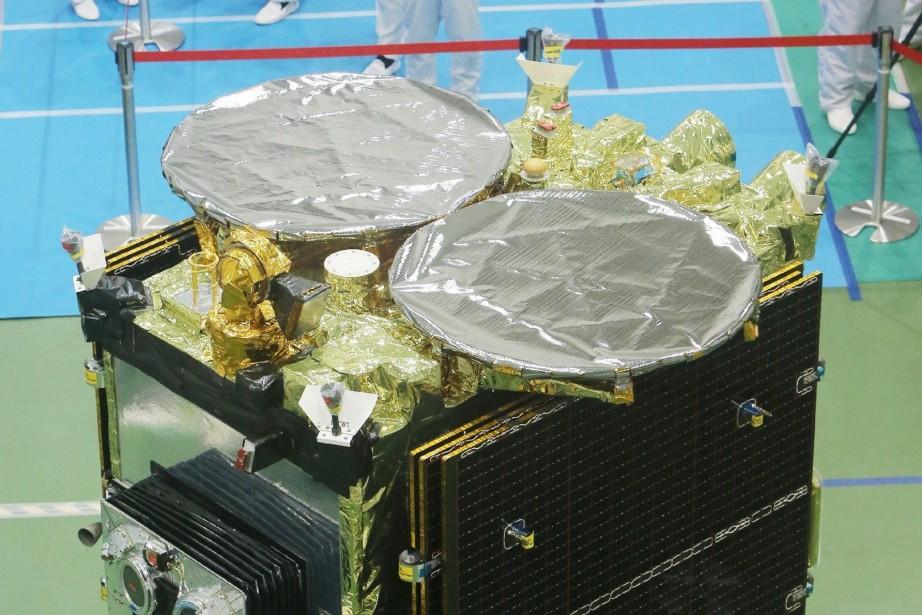 Hayabusa-2 est censée atteindre sa cible, l'astéroïde «1999... (Photo JIJI PRESS, AFP)
