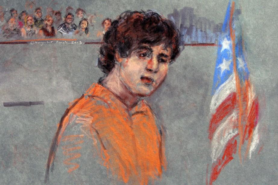 Dzhokhar Tsarnaev, 21 ans, naturalisé américain en 2012,... (ILLUSTRATION MARGARET SMALL, AP)