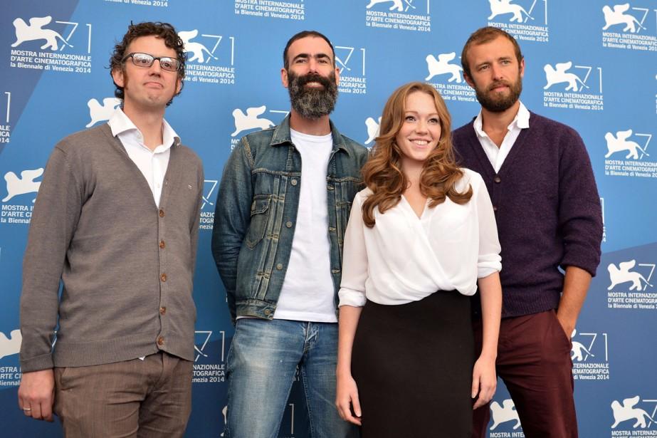 Jour 7 -Le producteur Samm Haillay, le réalisateur Duane Hopkins, ainsi que les acteurs Charlotte Spencer et Benjamin Dilloway sont venus présenter le film <em>Bypass</em>. (Photo: AFP)