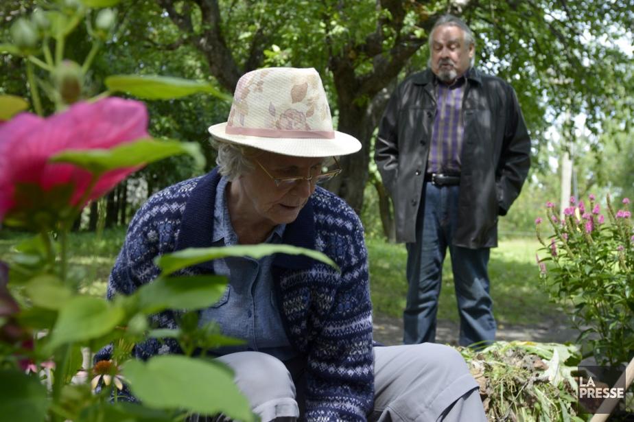 Béatrice Picard et Raymond Bouchard lors du tournage... (Photo: fournie par Boréal Films)