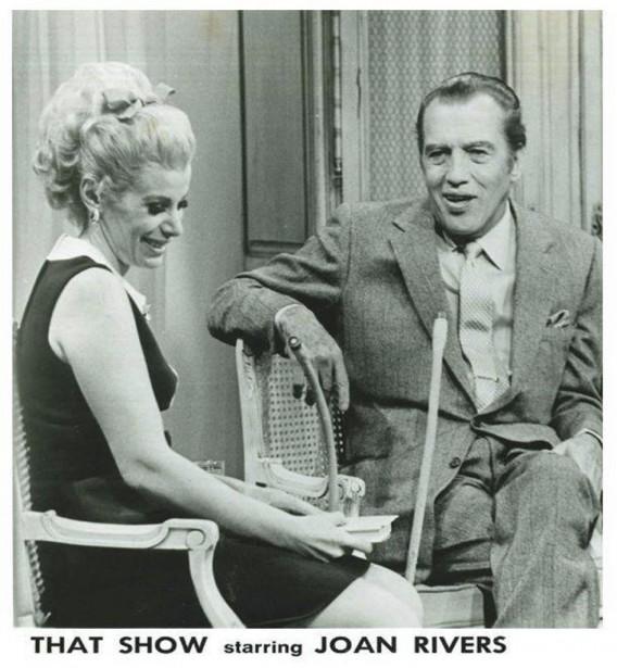 Joan Rivers et Ed Sullivan. (Photo: tirée de Facebook)