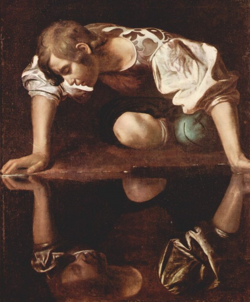 Ayant vu son visage dans l'eau, Narcisse tomba... (Image tirée de la Collection de la Galerie nationale d'art ancien de Rome)