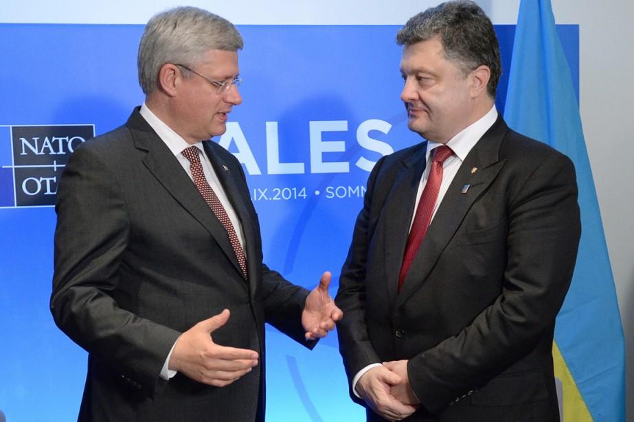Le premier ministre Stephen Harper, qui a rencontré... (PHOTO SEAN KILPATRICK, PC)