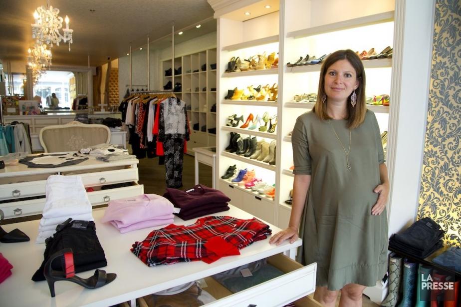 Véronique Saine, propriétaire de la boutique Billie.... (PHOTO ALAIN ROBERGE, LA PRESSE)