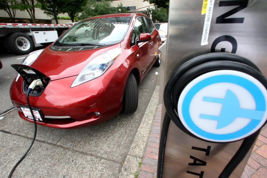La Nissan Leaf... (Photo Rick Bowmer, archives AP)
