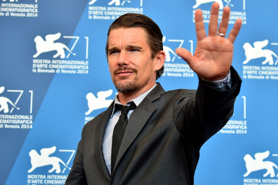Jour 10 - Ethan Hawke, vedette du film <em>Good Kill</em>. (Photo: AFP)