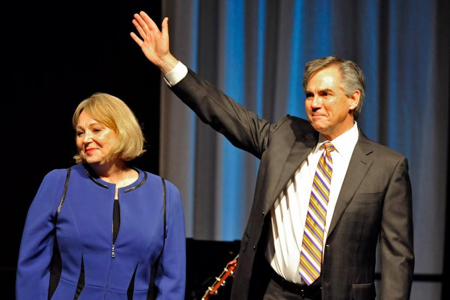 Jim Prentice et sa femme, Karen.... (PHOTO DAN RIEDLHUBER, REUTERS)
