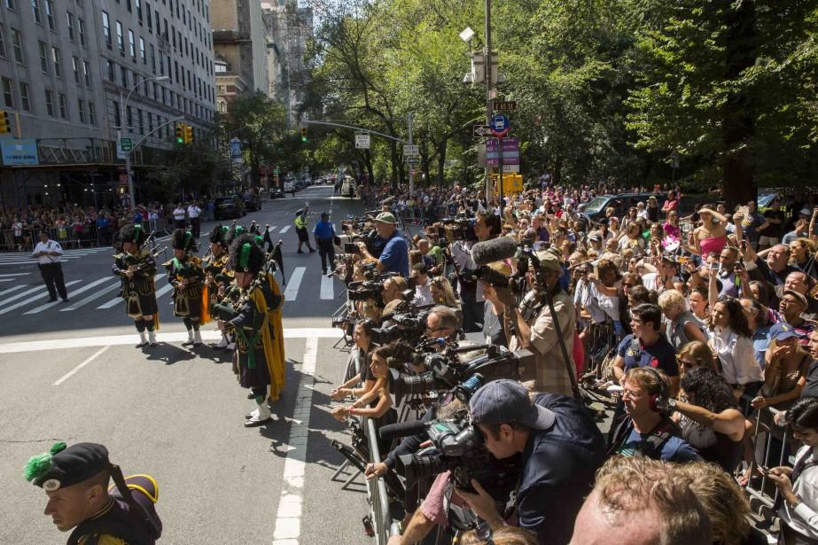 Une foule de paparazzi, journalistes, cameramans couvrait l'événement.... (Photo Lucas Jackson, Reuters)