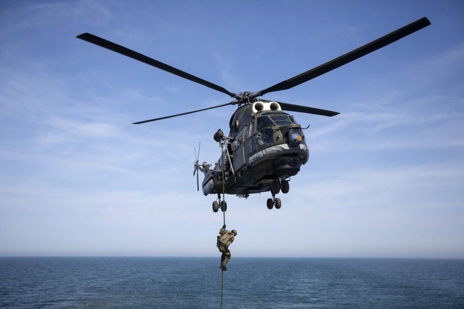 Un parachutiste roumain participe à un exercice de... (PHOTO STOYAN NENOV, ARCHIVES REUTERS)