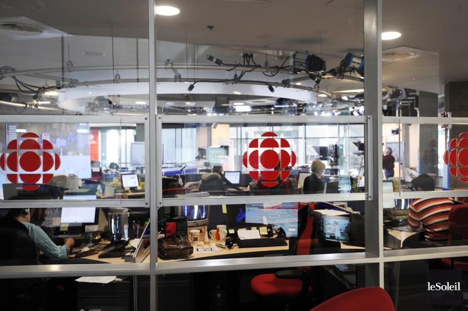 La salle de nouvelles de Radio-Canada à Québec.... (Photothèque Le Soleil, Erick Labbé)