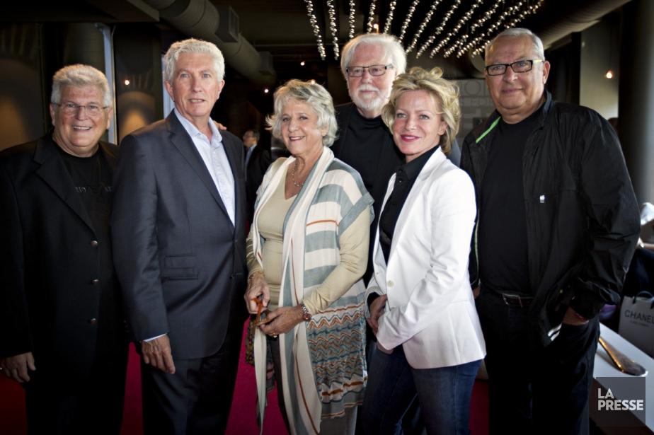 Yvon Pedneault, Gilles Duceppe, Denise Bombardier, Réjean Tremblay,... (Photo: Olivier Jean, La Presse)