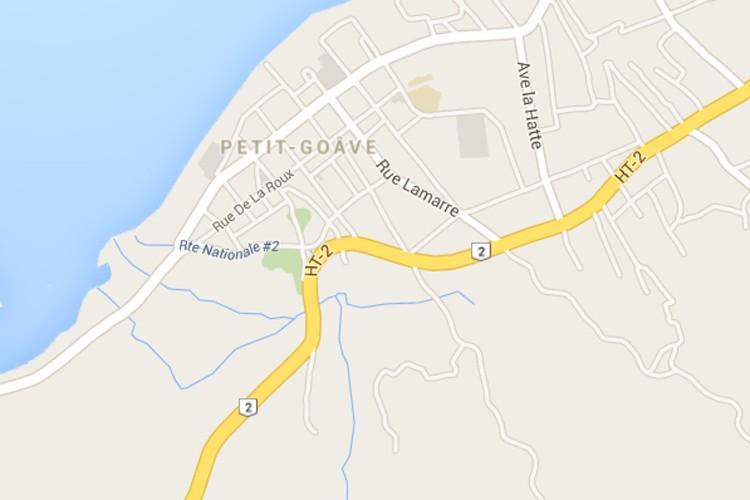 La carte de la ville de Petit-Goave, à...
