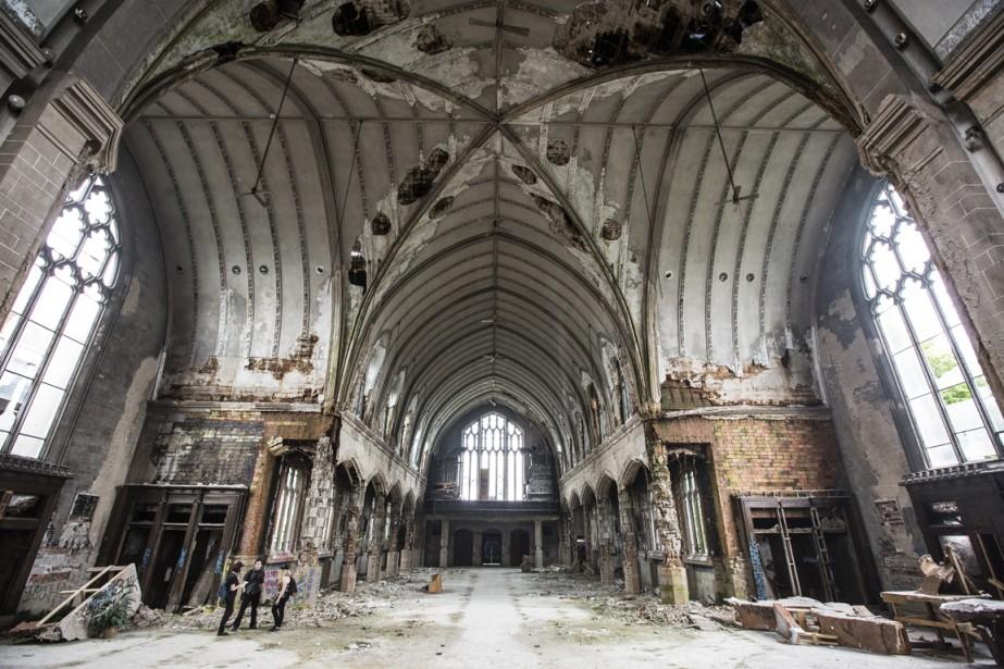L'église abandonnée St. Agnes, fermée en 2006. (Photo Edouard Plante-Fréchette, La Presse)