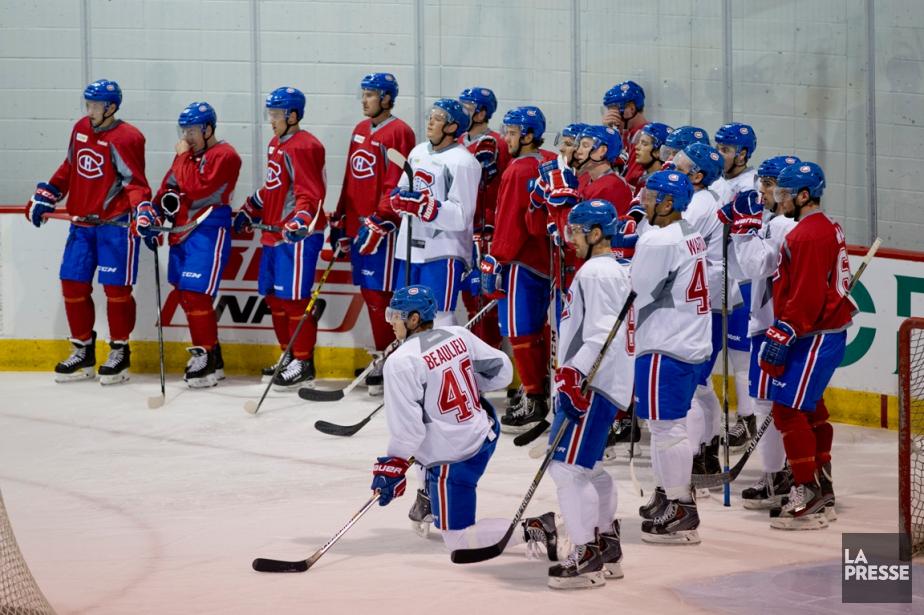 Le camp des recrues du Canadien démarre... (Photo David Boily, La Presse)