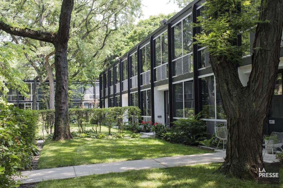 Situé près du centre-ville de Detroit, Lafayette Park... (PHOTO EDOUARD PLANTE-FRÉCHETTE, LA PRESSE)
