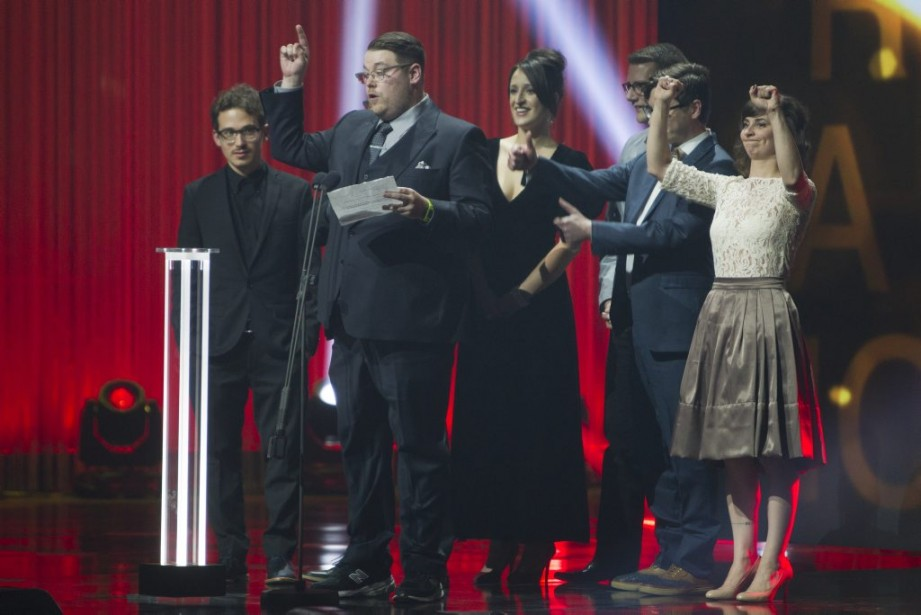 <em>Les Appendices</em>a reçu son tout premier Gémeaux en six saisons et cinq nominations, celui de la meilleure interprétation dans une émission d'humour. (Olivier Jean, La Presse)