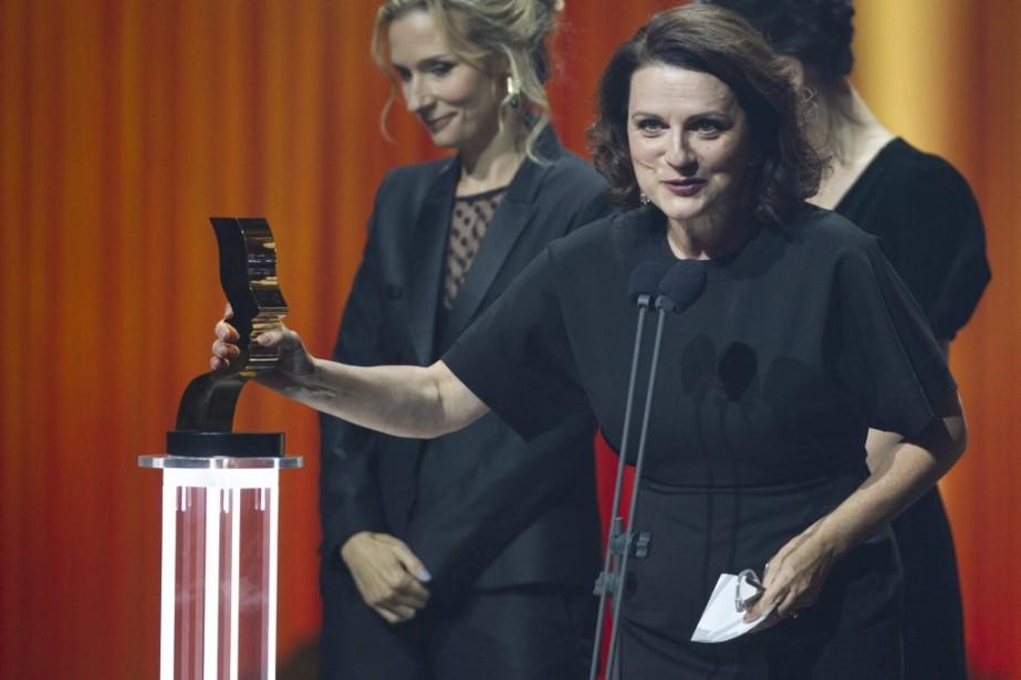 Marie-Thérèse Fortin a été récompensée pour son premier rôle dans le téléroman<em>Mémoires vives</em>. (Olivier Jean, La Presse)