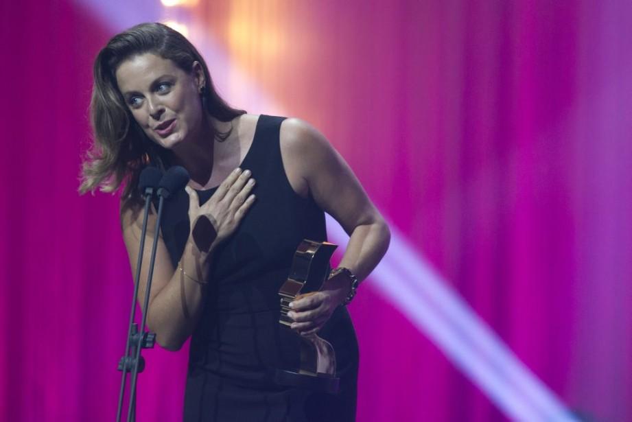 Julie LeBreton a gagné le prix dumeilleur premier rôle féminin dans une comédie. (Olivier Jean, La Presse)
