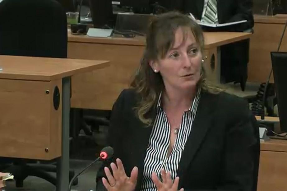La directrice générale des élections par intérim, Me... (Image tirée d'une vidéo de la commission Charbonneau)