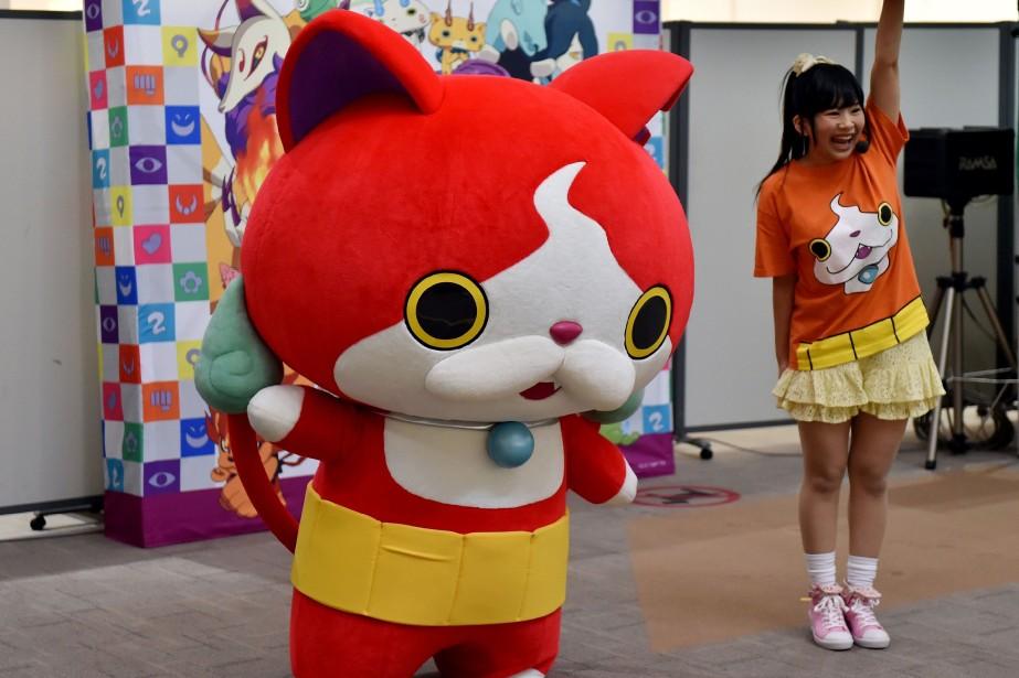 Jibanyan, le personnage principal du jeu Yo-Kai Watch,... (Photo archives AFP)