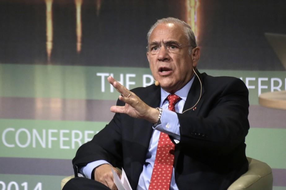 Le directeur général de l'OCDE,Angel Gurria... (Photo Ints Kalnins, Reuters)