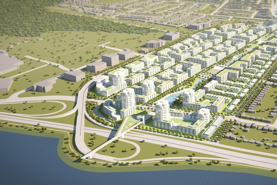 Un nouveau lotissement comprenant un immense parc et... (IMAGE FOURNIE PAR LA VILLE DE LONGUEUIL)