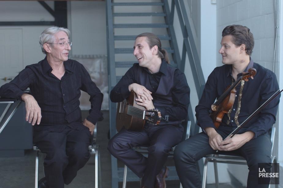 Richard Desjardins, Alexandre Éthier et Alexandre Da Costa... (Photo: fournie par la production)