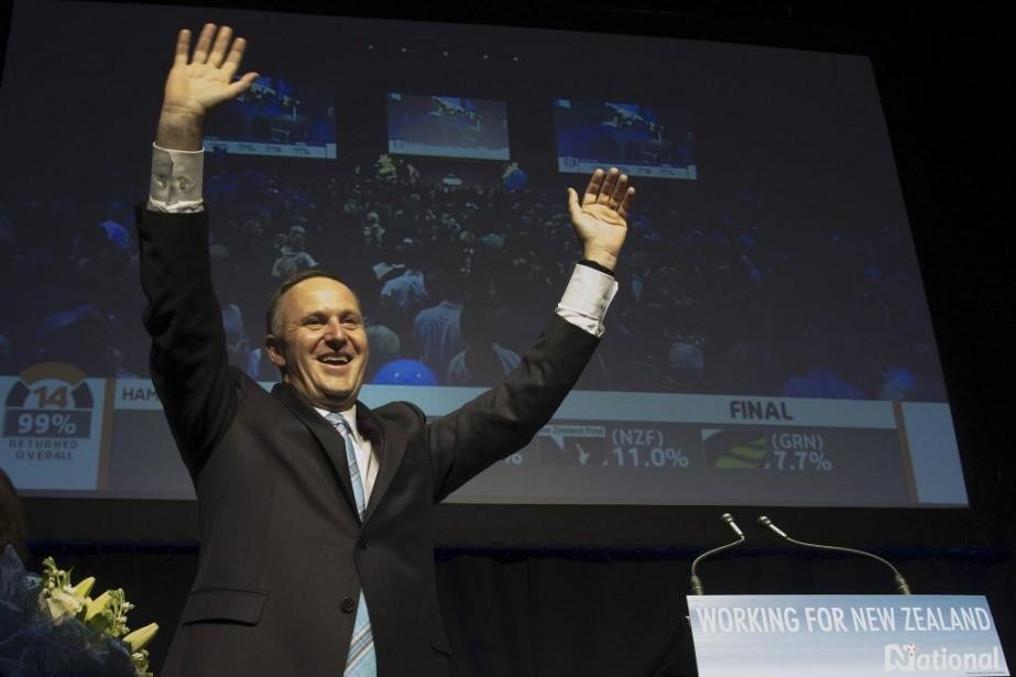 Le premier ministre sortantJohn Key s'est dit «extatique»... (Photo Marty Melville, AFP)