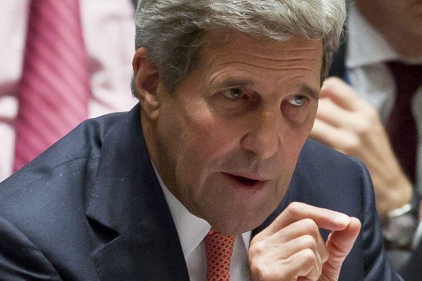 Le secrétaire d'État américain, John Kerry, n'a pas... (Photo Bebeto Matthews, AP)