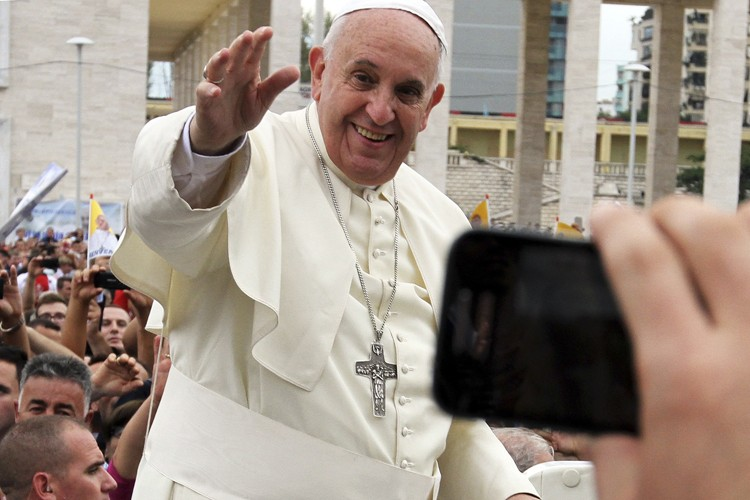 François avait reçu un accueil fervent de plus... (Photo: AFP)