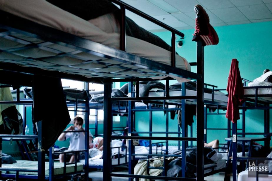 Les sans-abri qui dorment à laMission Old Brewery... (PHOTO MARCO CAMPANOZZI, LA PRESSE)