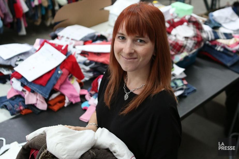 IsabelleDoucet, fondatrice du site d'échange de vêtements Minitrade.ca.... (Photo Martin Chamberland, La Presse)