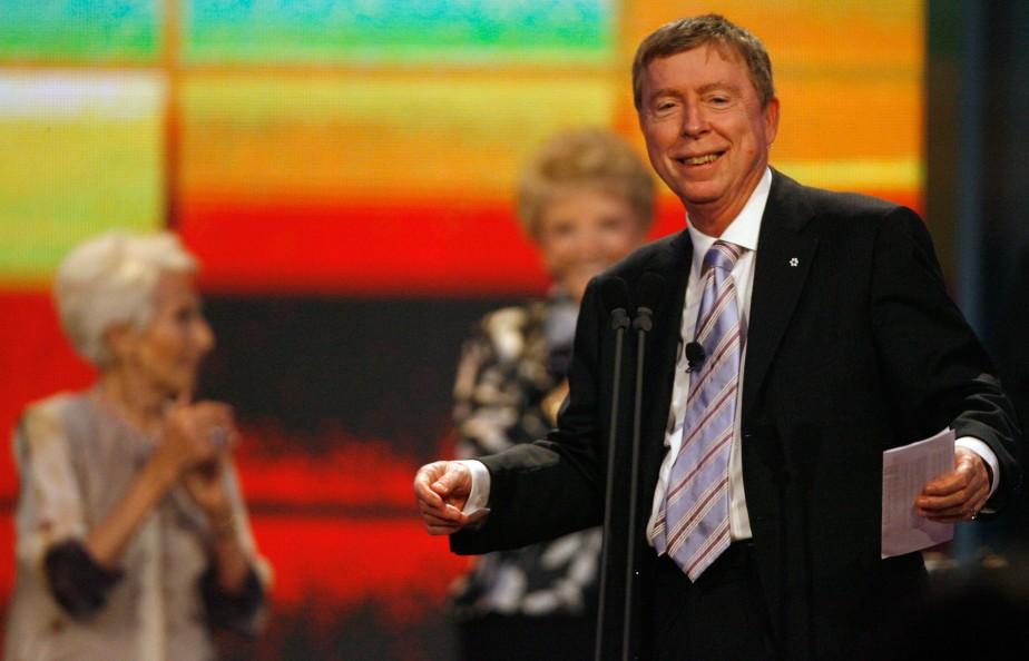 Hommage à Gilles Latulippe lors du gala des prix Gémeaux au Palais des Congrès en 2007. (PHOTO: FRANÇOIS ROY, ARCHIVES LA PRESSE)