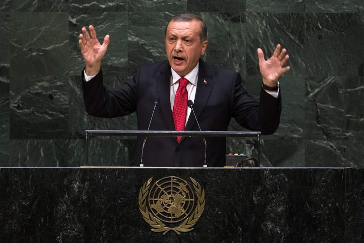 Recep Tayyip Erdogan s'est adressé mercredi àl'Assemblée générale... (Photo: Reuters)
