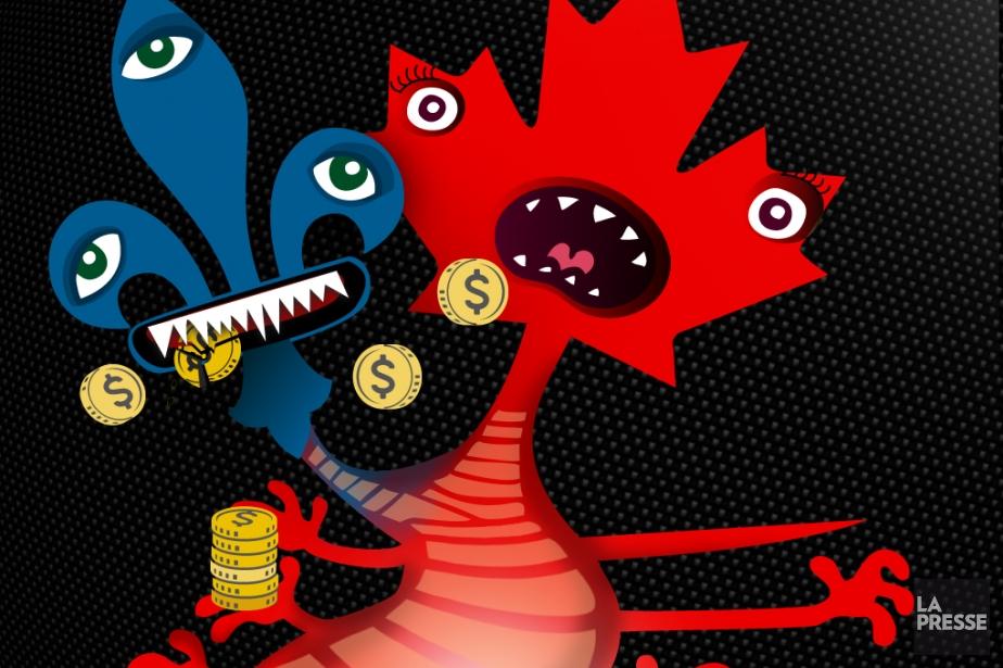 « Le monstre à deux têtes fiscales génère... (Graphisme Rachel Hotte, La Presse)