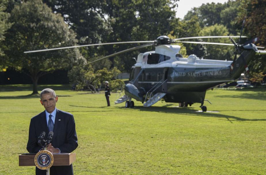 La participation arabe dont se vante le président... (Photo Jim Watson, Agence France-Presse)