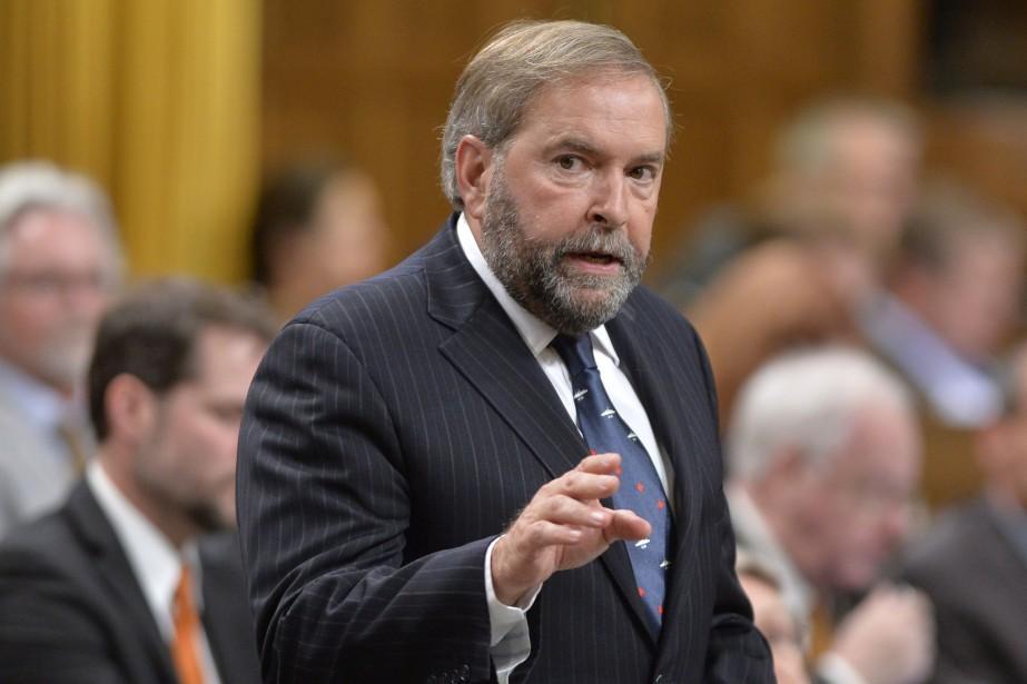 Le chef néo-démocrate Thomas Mulcair... (Photo Adrian Wyld, PC)