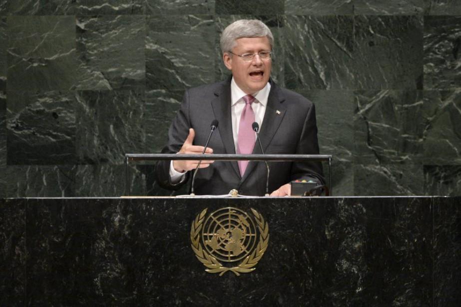 M. Harper a donc adopté un ton beaucoup... (PHOTO ARCHIVES LA PRESSE CANADIENNE)