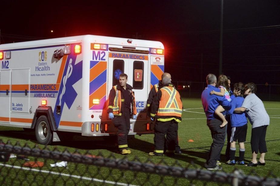 L'agresseur était dans les estrades avant de s'approcher... (Photo Keith Gosse, St. John's Telegram/PC)