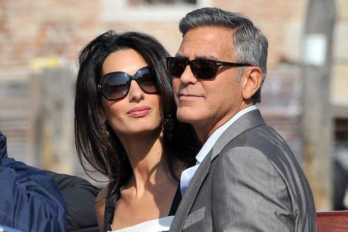 George Clooney et Amal Alamuddin, à leur arrivée à Venise.... | 2014-09-27 00:00:00.000
