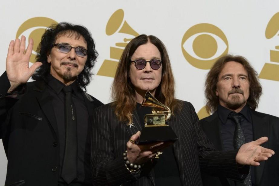 Tony Iommi, Ozzy Osbourne et Geezer Butler de... (PHOTO ARCHIVES AFP)