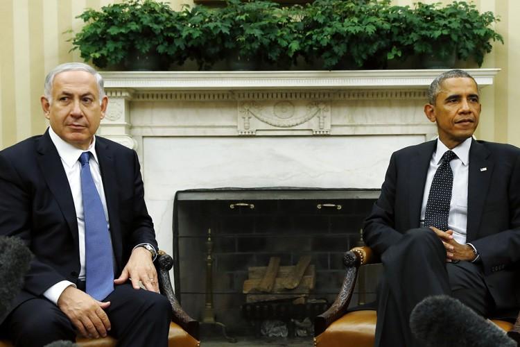 La relation entre MM.Obama et Nétanyahou est notoirement... (PHOTO ARCHIVES REUTERS)
