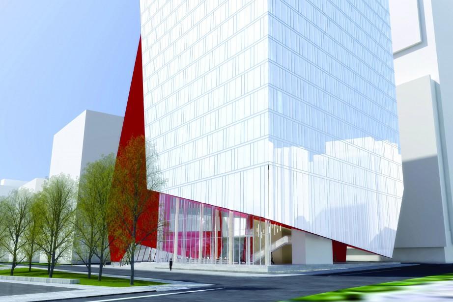 L'immeuble de l'Office national du Film sera situé... (PHOTO FOURNIE PAR PROVENCHER ROY ASSOCIÉS ARCHITECTES)