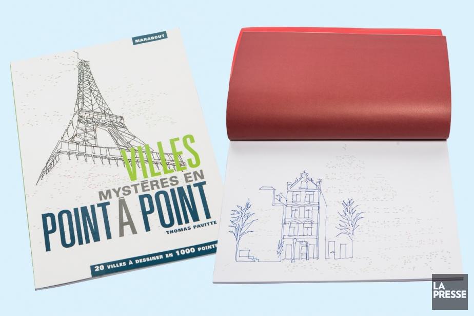 Le livre permet de dessiner 20 villes du... (PHOTO OLIVIER PONTBRIAND, LA PRESSE)