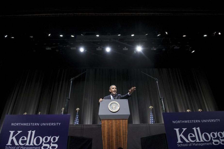 Le président Barack Obama a vanté jeudi son bilan économique,... (Photo AFP)