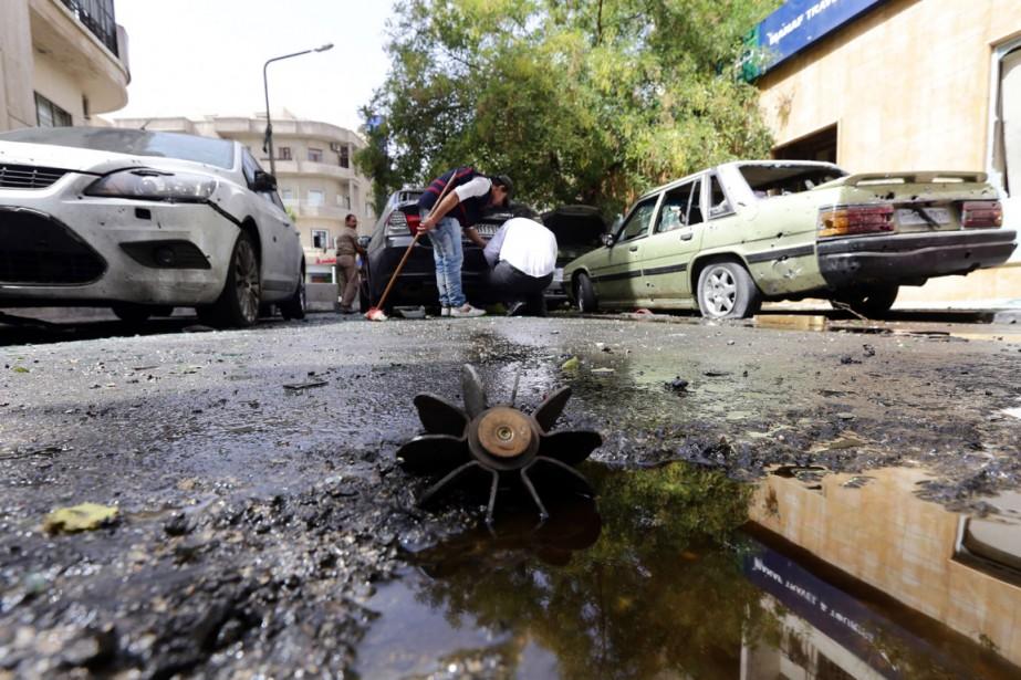 La vie des habitants de Damas, encore relativement... (PHOTO LOUAI BESHARA, ARCHIVES AFP)