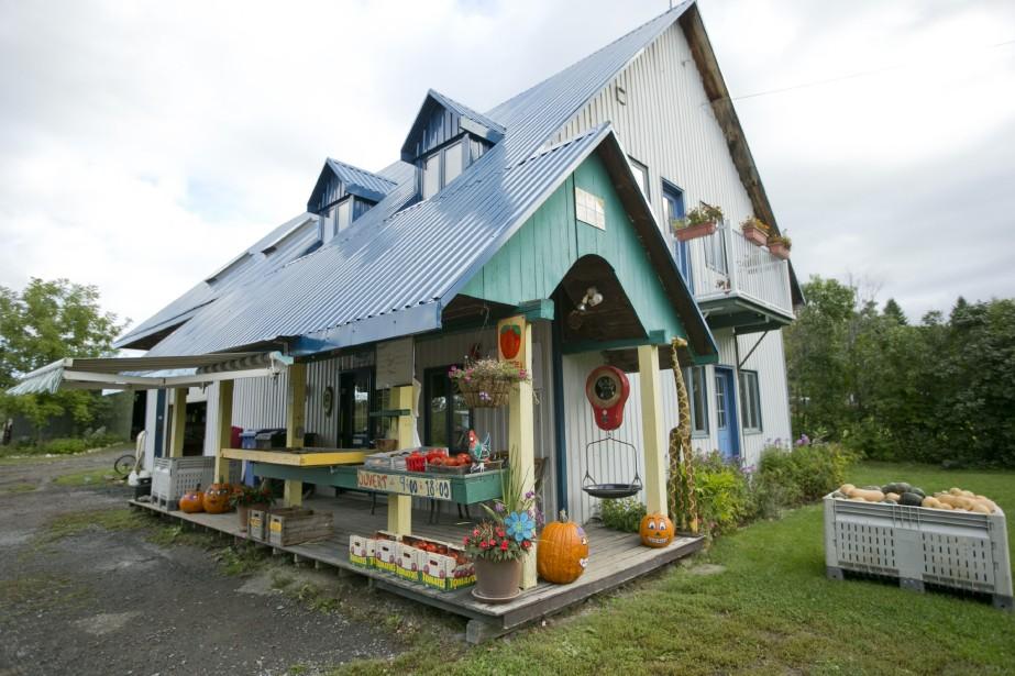 La ferme Anse-au-Sable fait partie de celles qui ouvrent leurs vergers aux visiteurs. (PHOTO DAVID BOILY, LA PRESSE)