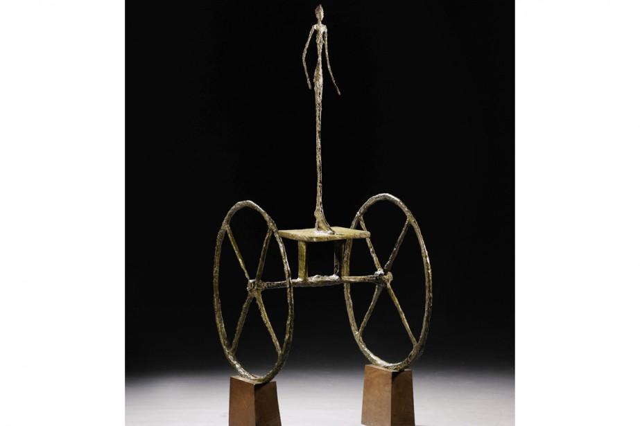 Chariot, une sculpture du Suisse Alberto Giacometti estimée... (Photo: AP)