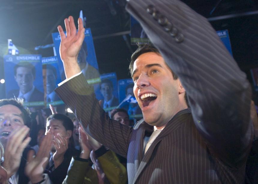 Élection d'André Boisclair en 2005 (Achives Le Soleil)
