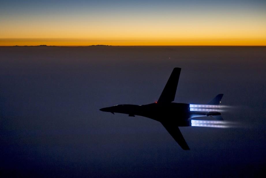 Un bombardier américain B-1B Lancer employé pour les... (Photo AP)